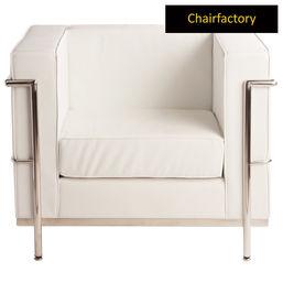 Le Corbusier Petit Comfort Replica One Seater Sofa - White, black