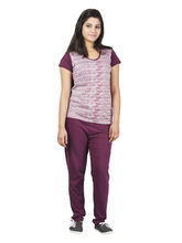 Broche Fancy Pure Cotton Nightsuit (Broche30073), 2xl, maroon
