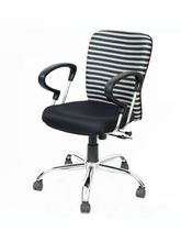 Hetal Enterprises Zebra Low Back Office Chair (HE-124)