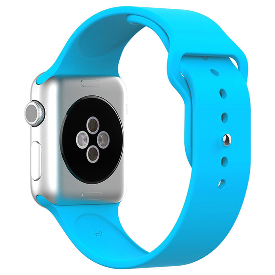 Silicone Sport Replacement WristBand Strap for Apple Watch 42mm - Blue