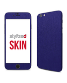 Stylizedd Premium Vinyl Skin Decal Body Wrap for Apple iPhone 6S - Brushed Steel Blue
