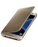 Samsung Galaxy S7 Clear View Cover,  Gold