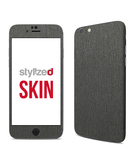 Stylizedd Premium Vinyl Skin Decal Body Wrap for Apple iPhone 6S - Brushed Steel