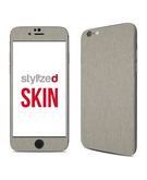 Stylizedd Premium Vinyl Skin Decal Body Wrap for Apple iPhone 6S - Brushed Titanium