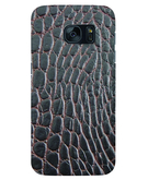 Stylizedd Samsung Galaxy S7 Edge Premium Slim Snap case cover Matte Finish - Cowhide Leather (Brown-Black) STZ-S7E-S-M-176