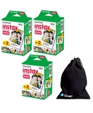 Fuji Instax Mini Plain (Film) Twin 60 Sheets with Ozone Carry bag for Instax mini 7, 7s, 8, 25, 50