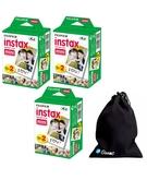 Fuji Instax Mini Plain (Film) Twin 60 Sheets with Ozone Carry bag for Instax mini 7, 7s, 8, 25, 50