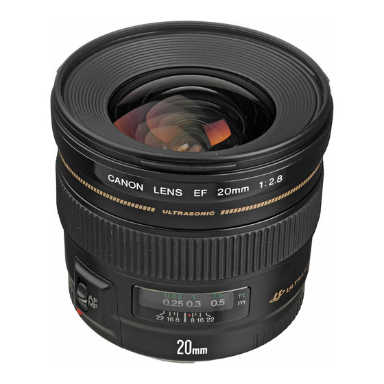 Canon EF 20mm F2.8 USM,  Black, 20mm