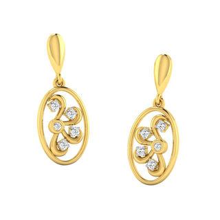 His & Her Fancy Diamond Earrings (T10561), 9k, Gol...