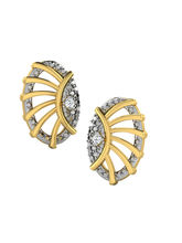 His & Her Fancy Diamond Earrings (T11359), 9k, Gol...