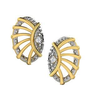 His & Her Fancy Diamond Earrings (T11359), 9k, Gol...