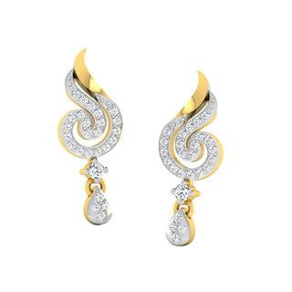 His & Her Fancy Diamond Earrings (T10132), 9k, Gol...