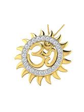His & Her Fancy Diamond Pendant (P10500), 9k, Gold...
