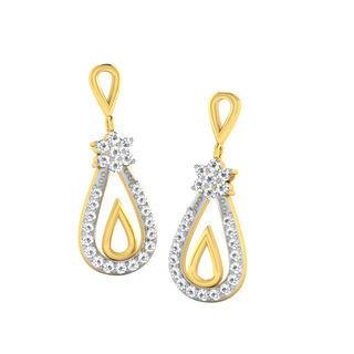 His & Her Fancy Diamond Earrings (T10515), 9k, Gol...