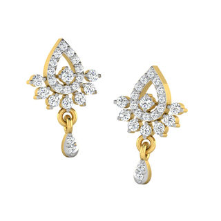His & Her Fancy Diamond Earrings (T10647), 9k, Gol...