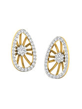 His & Her Fancy Diamond Earrings (T11749), 9k, Gol...
