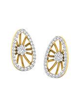 His & Her Fancy Diamond Earrings (T11749), 9k, gold