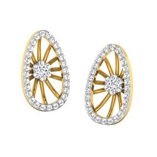 His & Her Fancy Diamond Earrings (T11749), 9k, Gol...