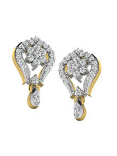 His & Her Fancy Diamond Earrings (T10134), 9k, Gol...