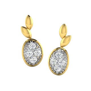 His & Her Fancy Diamond Earrings (T11989), 9k, Gol...