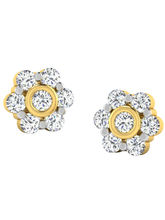 His & Her Fancy Diamond Earrings (T10401), 9k, Gol...