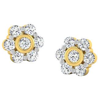 His & Her Fancy Diamond Earrings (T10401), 9k, Gol...
