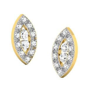 His & Her Fancy Diamond Earrings (T11825), 9k, Gol...