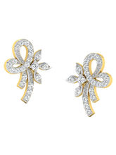 His & Her Fancy Diamond Earrings (T10331), 9k, Gol...