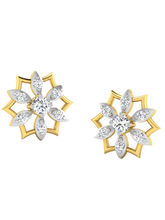 His & Her Fancy Diamond Earrings (T10490), 9k, Gol...