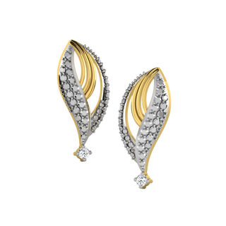 His & Her Fancy Diamond Earrings (T11473), 9k, Gol...