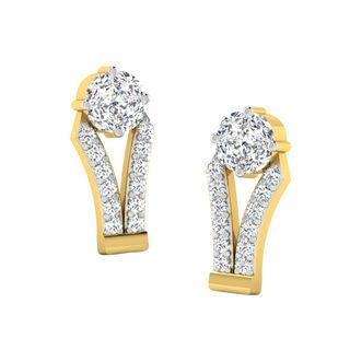 His & Her Fancy Diamond Earrings (T10046), 9k, Gol...