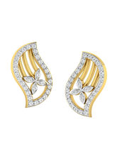 His & Her Fancy Diamond Earrings (T10128), 9k, Gol...