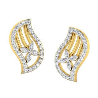 His & Her Fancy Diamond Earrings (T10128), 9k, Gol...