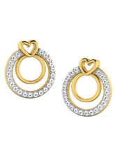 His & Her Fancy Diamond Earrings (T10688), 9k, Gol...