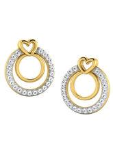 His & Her Fancy Diamond Earrings (T10688), 9k, Gol...