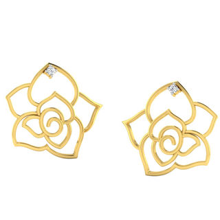 His & Her Fancy Diamond Earrings (T11509), 9k, Gol...