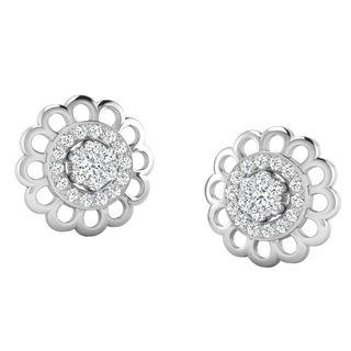 His & Her Fancy Diamond Earrings (T10829), 9k, Gol...