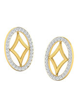 His & Her Fancy Diamond Earrings (T10229), 9k, Gol...