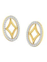 His & Her Fancy Diamond Earrings (T10229), 9k, Gol...