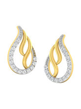 His & Her Fancy Diamond Earrings (T10419), 9k, Gol...