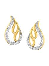 His & Her Fancy Diamond Earrings (T10419), 9k, Gol...