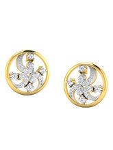 His & Her Fancy Diamond Earrings (T11081), 9k, Gol...