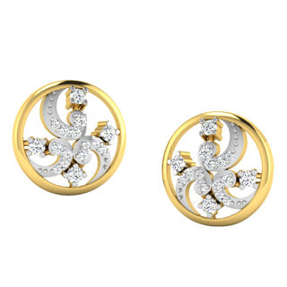 His & Her Fancy Diamond Earrings (T11081), 9k, Gol...