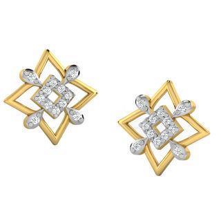 His & Her Fancy Diamond Earrings (T10210), 9k, Gol...