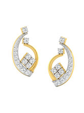 His & Her Fancy Diamond Earrings (T10756), 9k, Gol...