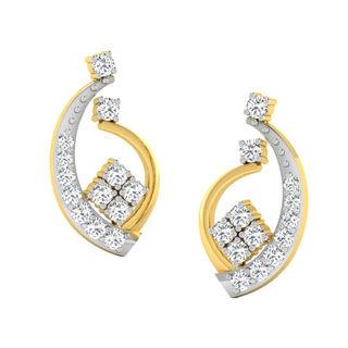 His & Her Fancy Diamond Earrings (T10756), 9k, Gol...