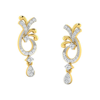 His & Her Fancy Diamond Earrings (T10009), 9k, Gol...