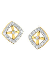 His & Her Fancy Diamond Earrings (T10638), 9k, Gol...