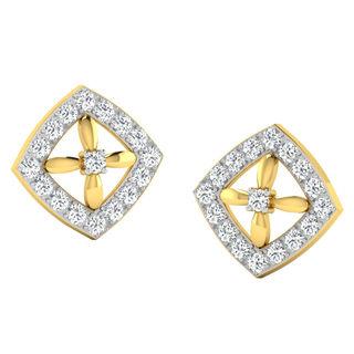 His & Her Fancy Diamond Earrings (T10638), 9k, Gol...