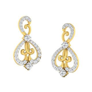 His & Her Fancy Diamond Earrings (T10098), 9k, Gol...
